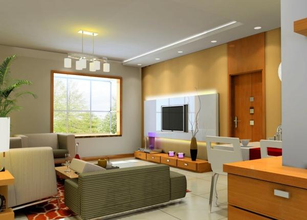 interessante-deckenleuchten-für-wohnzimmer-minimalistischer-look