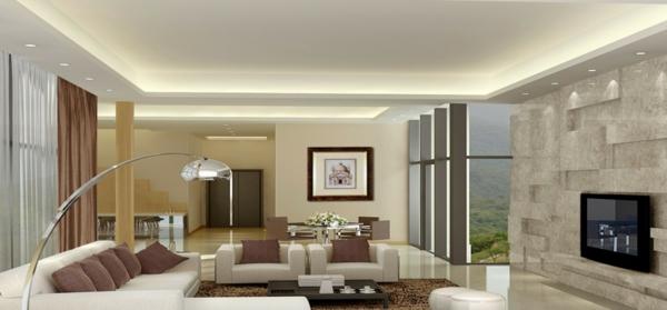 interessante-deckenleuchten-für-wohnzimmer-modernes-interieur