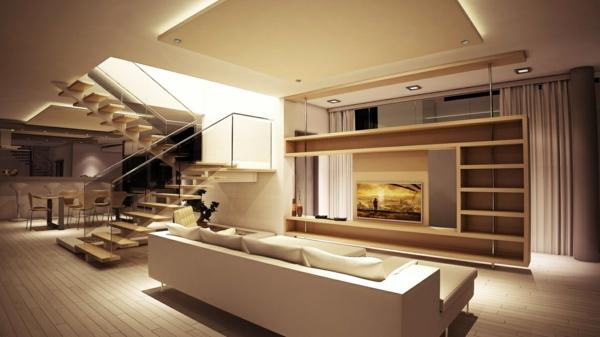 Moderne wohnzimmer mit treppe  Moderne Wohnzimmer Mit Treppe | schmauchbrueder.com