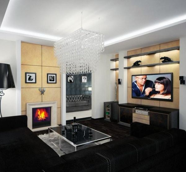 interessante-deckenleuchten-für-wohnzimmer-super-tolles-aussehen