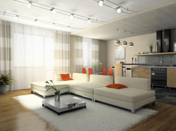 interessante-deckenleuchten-für-wohnzimmer-weißes-schönes-sofa