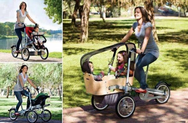 interessants-modell-vom-kinderwagen-spaziergang-in-der-natur