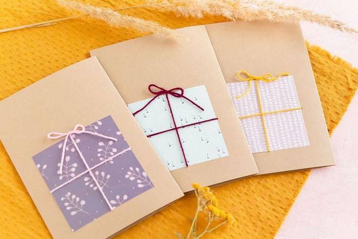 karte basteln vorlage ausgefallene geburtstagskarteb selber basteln geschenkkarte basteln drei karten selber gemacht