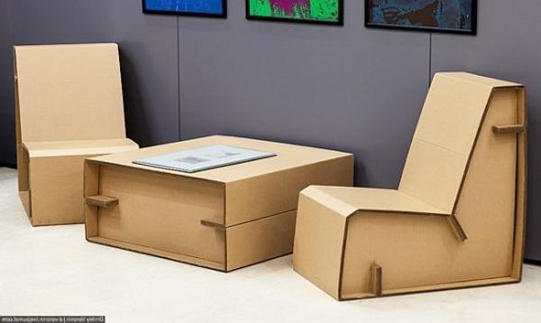 Tisch Aus Pappe möbel aus pappe - 75 originelle vorschläge! - archzine