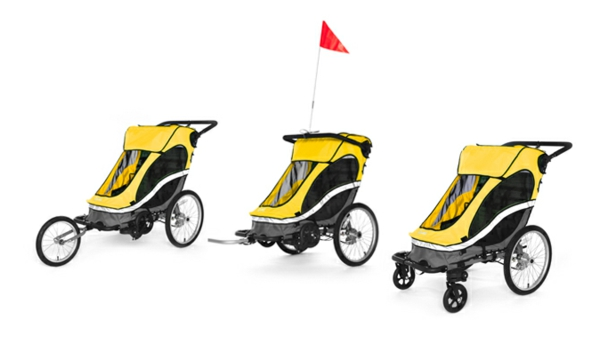 kinder-fahrradanhänger-drei-tolle-modelle-in-gelber-farbe