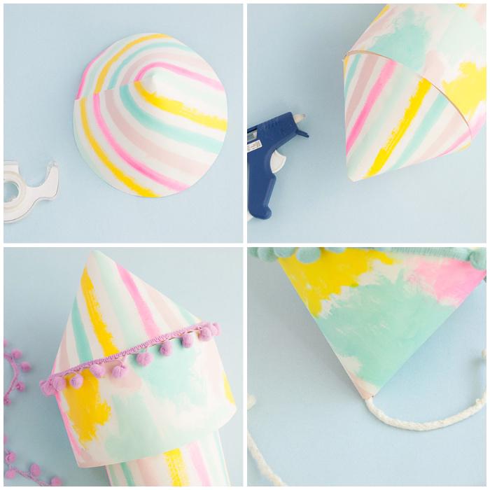 kindergeburtstag deko ideen zum selbermachen, laternen aus papier bastlen, diy mobile