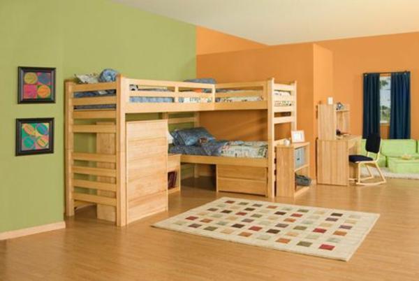 kinderzimmer-bett-aus-zwei-etagen-aus-echtholz