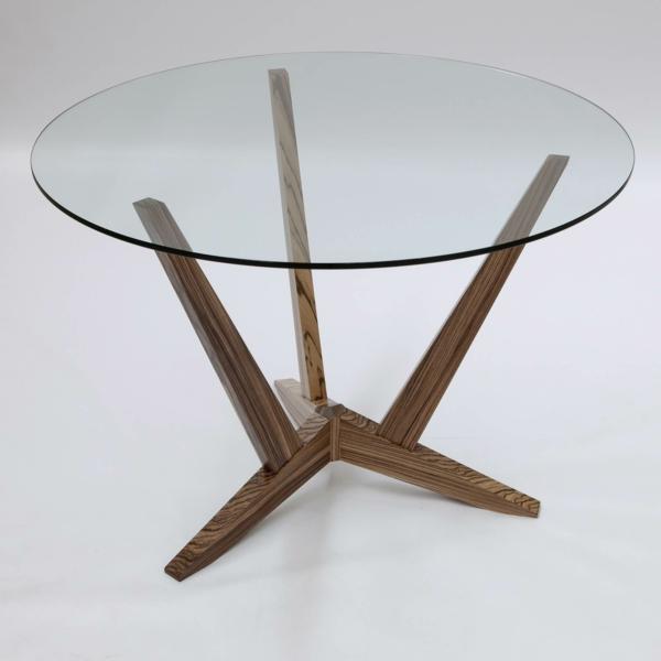 Runder Tisch Glasplatte : kleiner-runder-moderner-glasplatte-tisch-mit-drei-beinen