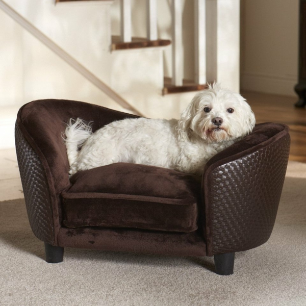 leder-hundekissen -hundebett-design-sofa-für-ihren-hund-schöne-hundeaccessoires-blaues-ledersofa