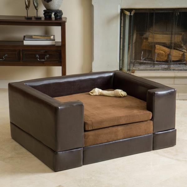 ledersofa-hundekissen -hundebett-design-sofa-für-ihren-hund-schöne-hundeaccessoires--ledersofa