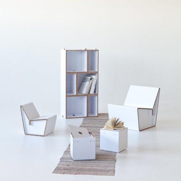 möbel-aus-pappe-einrichtungsideen-basteln-mit-karton-kartone-