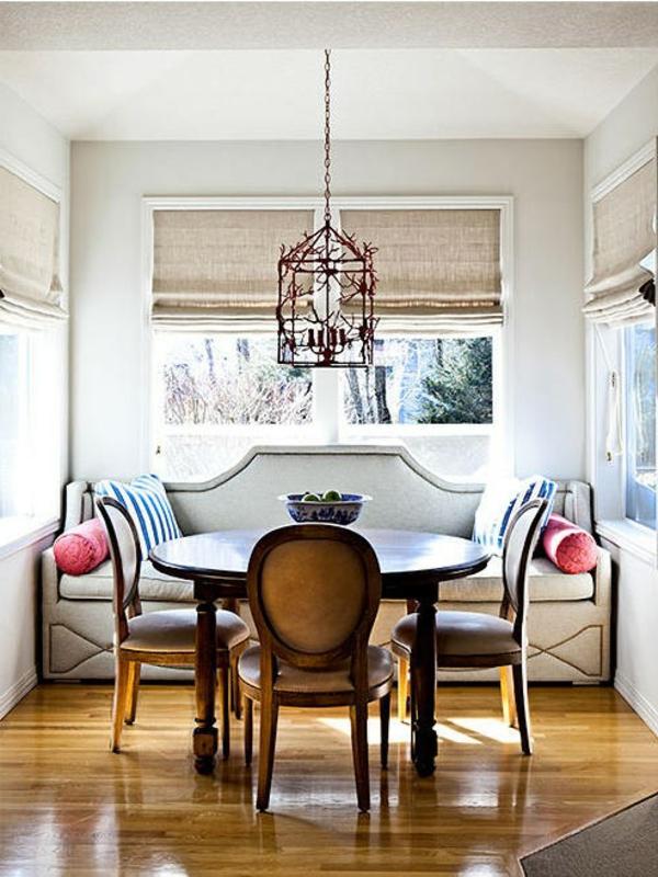 Modernes Und Attraktives Esszimmer Sofa Lampe über Dem