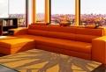 Orange Wohnzimmer Design: 40 Bilder!