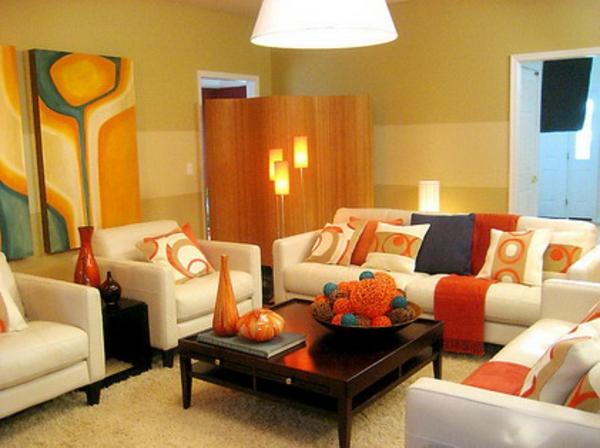 orange-wohnzimmer-design-sehr-kleines-zimmer