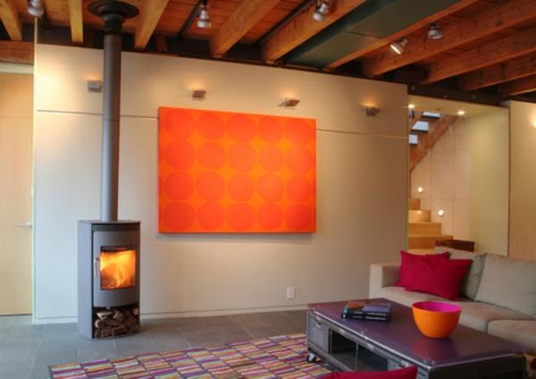 orange-wohnzimmer-design-super-akzent-an-der-wand