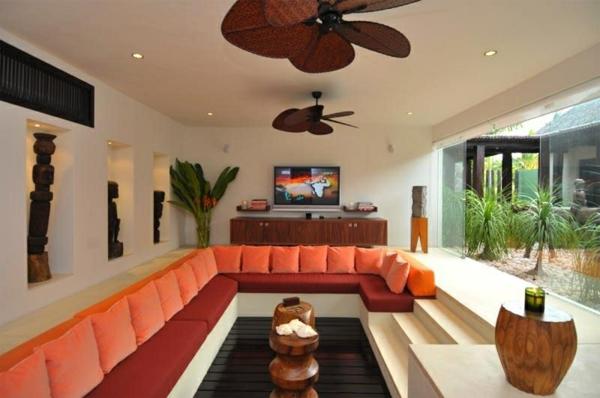 orange-wohnzimmer-design-super-großes-eckiges-sofa