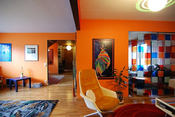 orange-wohnzimmer-design-tolles-aussehen