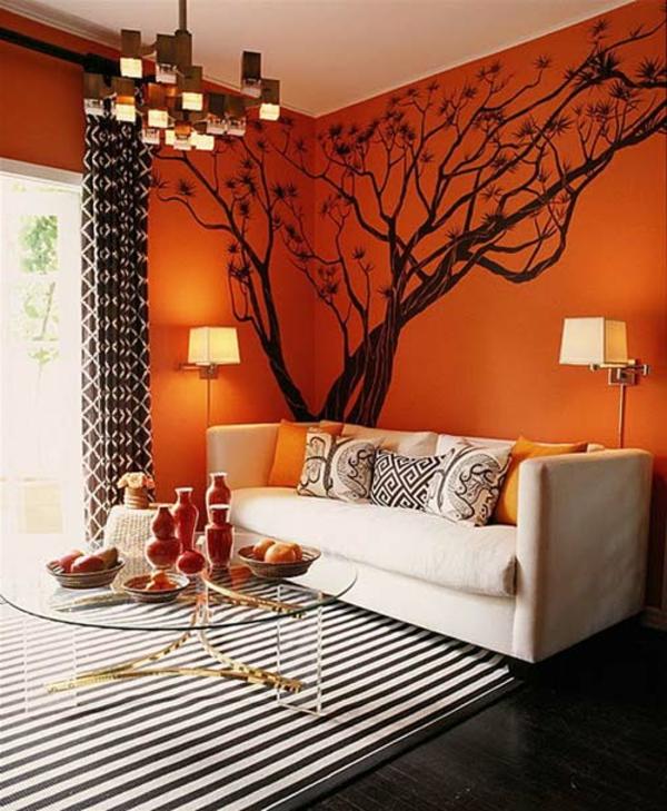 Orange Wohnzimmer Design: 40 Bilder! - Archzine.net