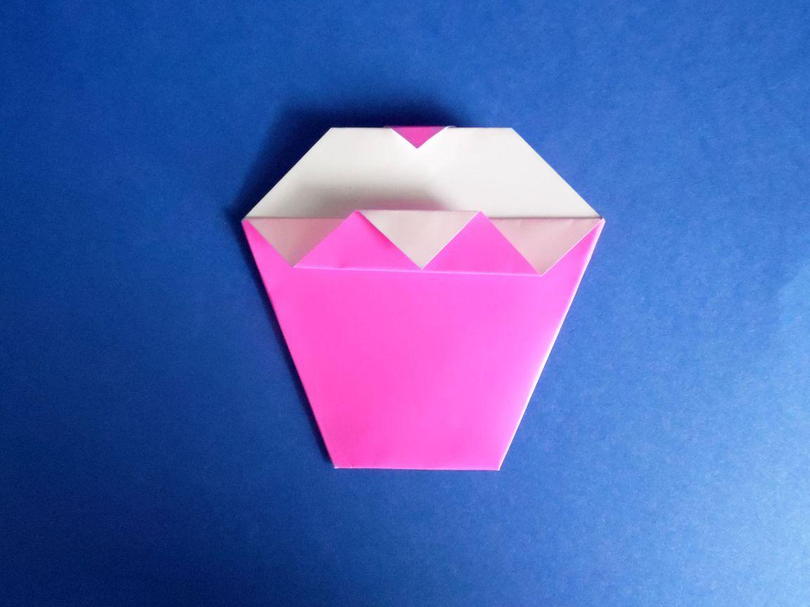 origami cupcak karten selber machen diy geburtstagskarte pop up karte geburtstagskarten selber machen vorlagen kostenlos rosa cupcake