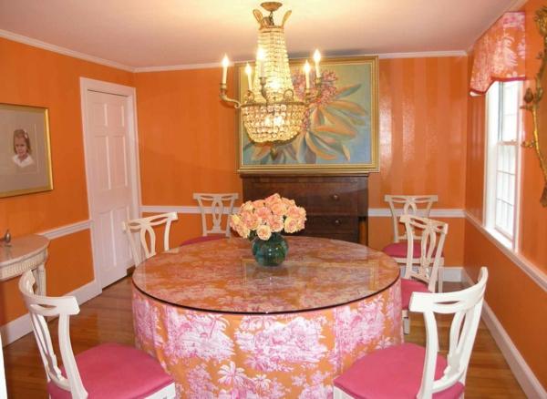 Interessante Orange Deko Fürs Esszimmer