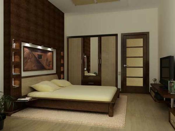 originelle-schlafzimmer-ideen-braune-farbschemen