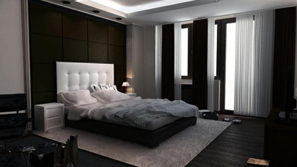 originelle-schlafzimmer-ideen-graue-gestaltung