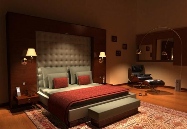 originelle-schlafzimmer-ideen-marsala-farbe