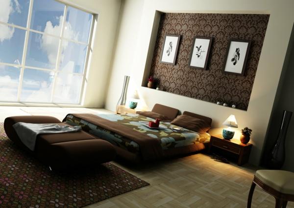 originelle-schlafzimmer-ideen-moderne-glaswand
