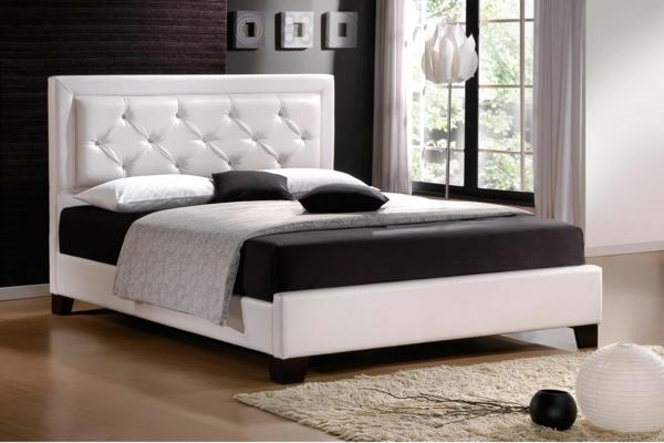 originelle-schlafzimmer-ideen-schlichte-gestaltung-in-weiß-und-schwarz