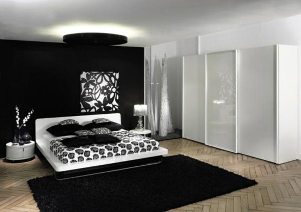 originelle-schlafzimmer-ideen-weiß-und-schwarz-zusammenbringen