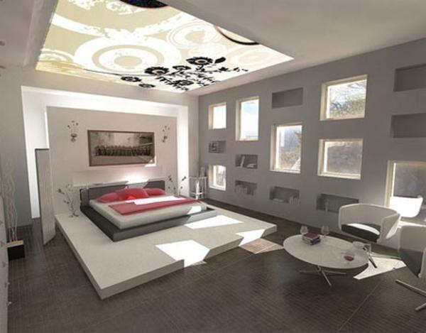 originelle-schlafzimmer-ideen-weiße-attraktive-ausstattung