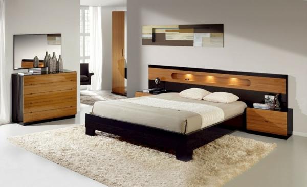 originelle-schlafzimmer-ideen-weißes-modernes-bett