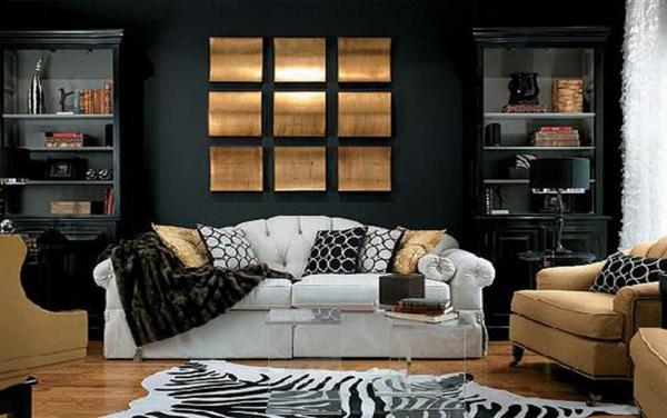 originelle-wohnzimmer-deko-weißes-schönes-sofa