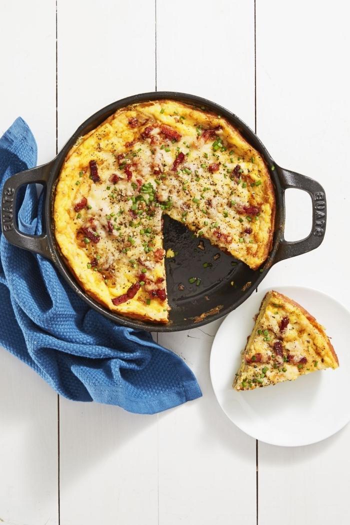 osterbrunch rezepte, fritatta mit eiern und pilzen, einfache zubereitung, frühstück mit eiern