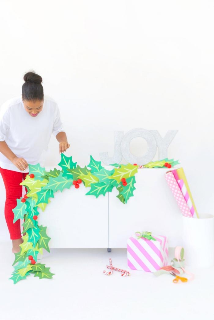 party deko selber machen, diy partydeko zu weihanchten, weihnachtliche dekoration, diy girlande