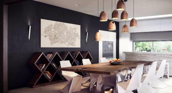 61 tolle modelle von pendelleuchten f r esszimmer. Black Bedroom Furniture Sets. Home Design Ideas