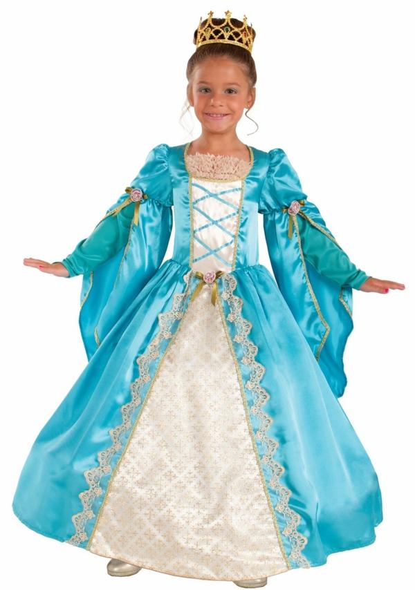 prinzessin-kostüm-für-kind-herrliches-kleid-in-blau-und-weiß-und-eine-krone