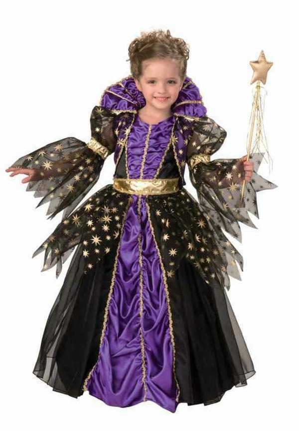 prinzessin-kostüm-für-kind-schickes-kleid-in-schwarz-und-lila