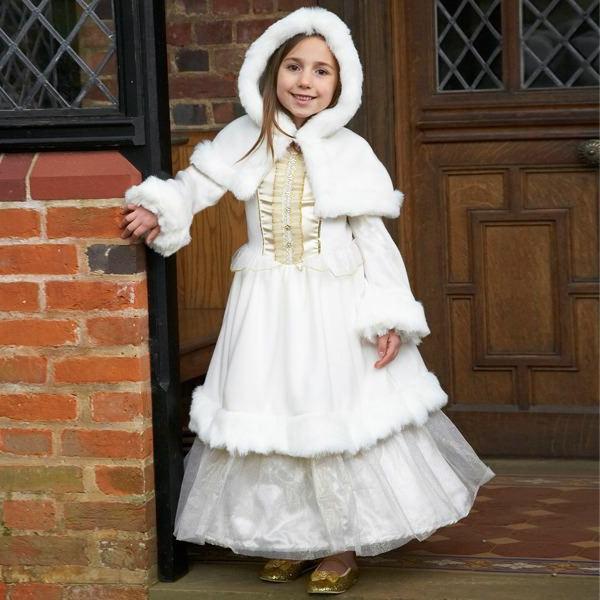 schönes weißes prinzessin-kleid für kinder