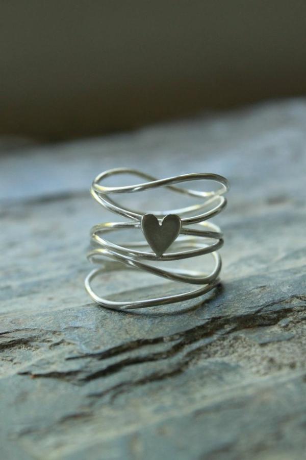 -ring-silber ringe-silber-sterling-silber-silberring-ringe-kaufen-ring-mit-einem-herzen