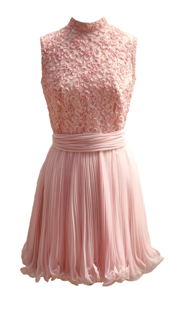 rosa-Kleid-aus-Chiffon