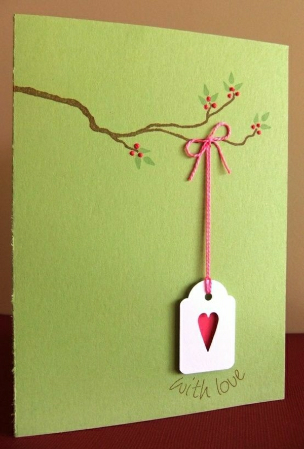 schöne-handgemachte-karten-bastelideen-grüne-karten