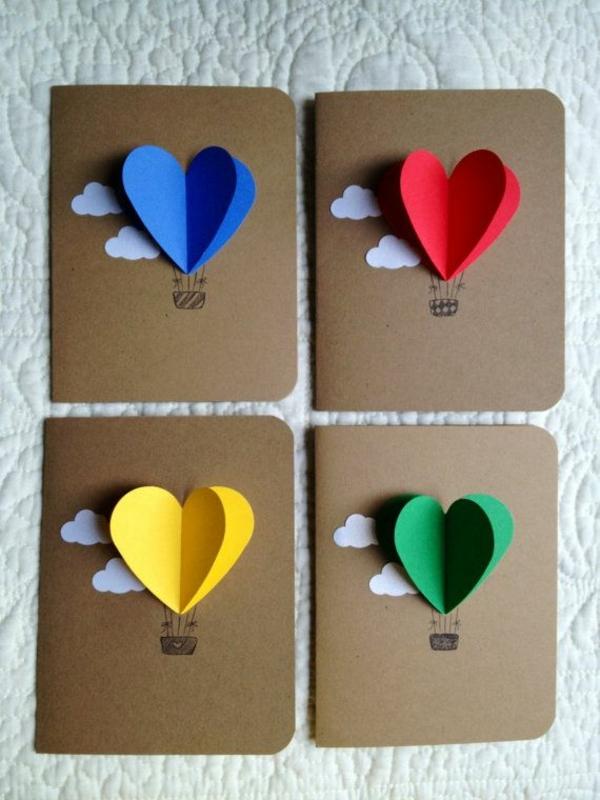-schöne-handgemachte-karten-bastelideen-karten Karten selber basteln