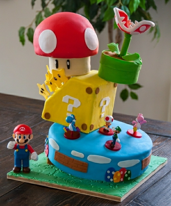 Mario Bros Cakes Photos