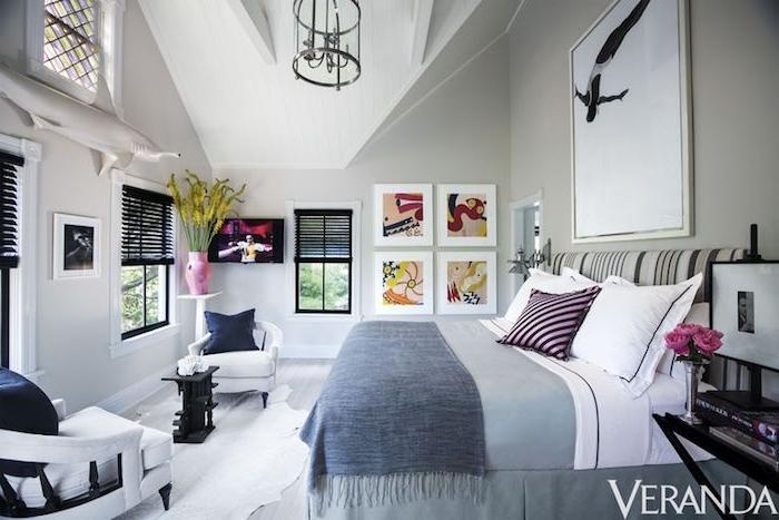Mansardenzimmer einrichten, kleines Schlafzimmer Ideen, praktische Möbel