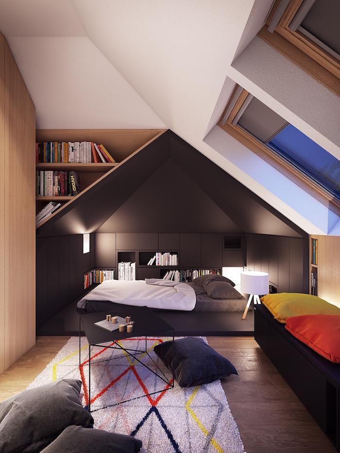 Mansardenzimmer Ideen, Schlafzimmer Ideen für kleine Räume