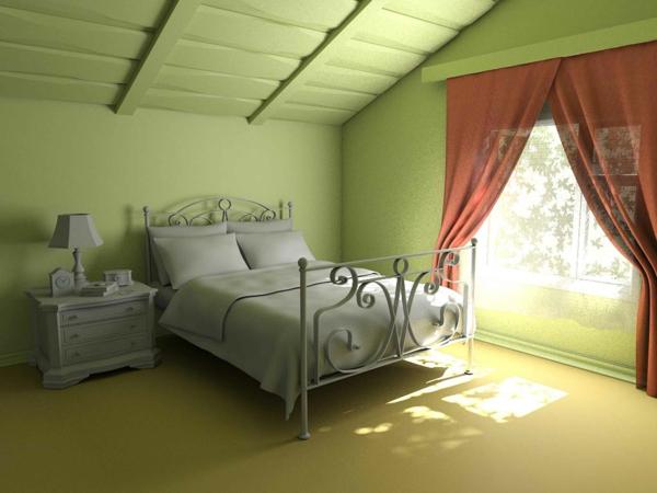 Wandgestaltung schlafzimmer dachschr ge