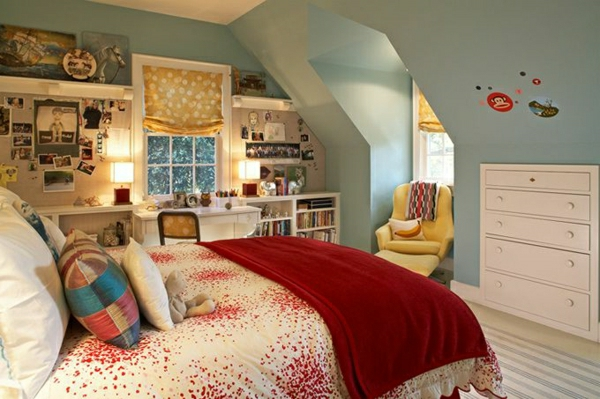 schlafzimmer mit dachschräge: 34 tolle bilder! - archzine.net - Kleine Schlafzimmer Mit Schragen