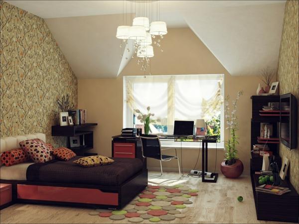 Schlafzimmer mit dachschräge modern: schlafzimmer gestaltung mit ...