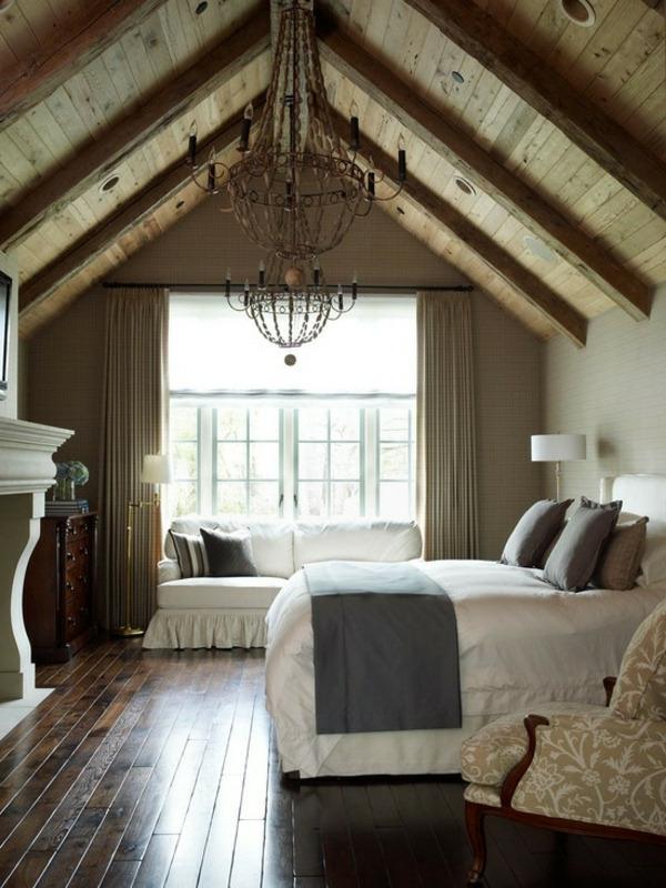 schlafzimmer mit dachschräge: 34 tolle bilder! - archzine, Wohnzimmer dekoo